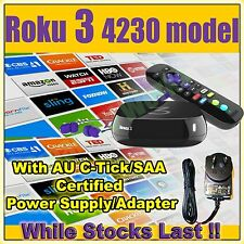 (AU PSU) Roku 3 4230 HD Smart TV Streamer for Netflix Plex + FREE Express Post