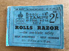 C. 1936 Edward VIII Book Of Stamps - Rolls Razor Advert To Front