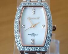 Ladies Rose-Gold Ingersoll Quartz Gems White Topaz Tonneau Pearl Dial 100m Watch