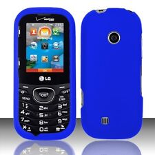Hard Rubberized Case for LG Cosmos 2 VN251 - Blue