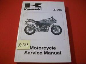 KAWASAKI Z750S Z 750 S FACTORY MOTORCYCLE  SERVICE MANUAL  # 99924-1344-01 2005