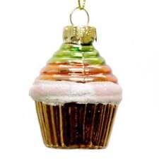 Gisela Graham - Bronze Cup Cake Bauble - Christmas Decoration - 0013 A