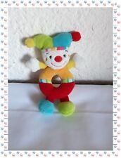 F - Doudou Hochet Lutin Joker Clown Babysun