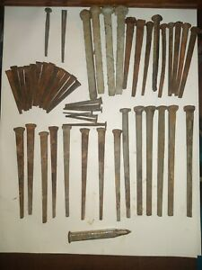 Lot of 50 Vintage Various Sizes Types Spikes Nails & Punch See Pictures:)