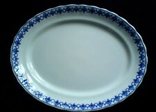 Losol Ware MATLOCK  Blue / White KEELING & CO LTD 16 inch Oval Plate c1914