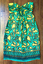 MILLY Silk Chiffon Strapless Cocktail Party Dress Lined Sz 4