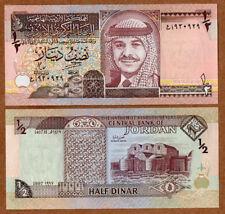 Jordan 1/2 Half Dinar 1997 Banknotes UNC