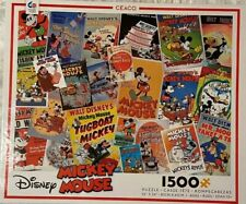 Ceaco Disney Mickey Mouse Vintage Comic Poster 1,500 Puzzle - SEALED - USA Made
