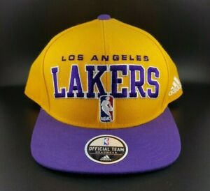 Adidas NBA Los Angeles Lakers Official Team Headwear One Size Yellow Hat