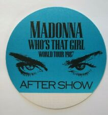 Madonna Who's That Girl Backstage Pass Original 1987 Pop Music Concert Tour Blue