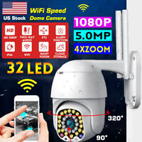 5MP HD 1080P IP Camera Outdoor WiFi PTZ CCTV Smart Home Security Wireless IR Cam