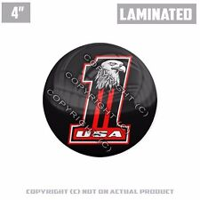 """1 Custom Thick Laminated Glossy 4"""" 3M Premium Decal Sticker USA #1 EAGLE RED"""