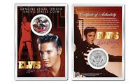 ELVIS PRESLEY - The King OFFICIAL JFK Half Dollar U.S. Coin in PREMIUM HOLDER