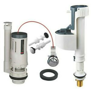 Flomasta Push-Button Dual-Flush Valve and Brass Fill Valve Kit  Free Delivery