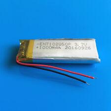 1000mAh 3.7V LiPo Battery 102050 for MP4 MP5 GPS Camera Selfie Stick Speaker PSP