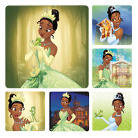 Princess and Frog Stickers x 6  Birthday Party Supplies Favours Loot Tiana Frog
