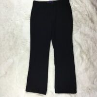 NYDJ Not Your Daughters Jeans women's Black Flat front Pants Size 8 Career