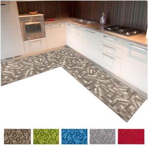 Tappeto cucina angolare 3D moderno bordato al metro su misura design italiano