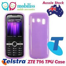Purple TPU Gel Jelly iSkin Case Cover Skin for Telstra ZTE T96