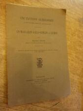 Couzy Excursion archéologique Gouaux de Larboust  mascaron gallo-romain Luchon