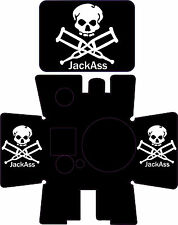 GoPro HD Hero and HD Hero2 Sticker for housing decals graphic jack ass mx atv