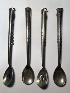 American advertising Vintage Cocktail Spoons with Corkscrew and cap-lifter LOT 3