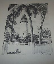 Lighthouse Sketch by Phil Austin, Signed