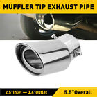 Auto Parts Exhaust Pipe Tip Tail Muffler Stainless Steel Replacement Accessories