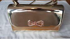 Ted Baker gold crystal metallic bow 'Cheri' crossbody bag