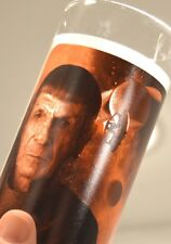 MR. SPOCK STAR TREK GLASS pictures and etching copyright 2008 Paramount