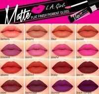 L.A Girl Matte Lip Gloss-Flat Finish Matte Pigment Gloss 16 Shade Best Price