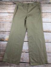 Womens Talbots tan chinos pants NEW NWT 10 Heritage wide leg linen