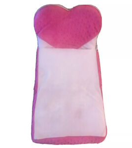 Build A Bear Pink Heart Fold-Up Bed Couch Plush For Small-Frys Smallfrys