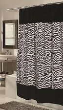 SAVANNA Animal print  FAUX FUR FABRIC SHOWER CURTAIN / LINER INCLUDED