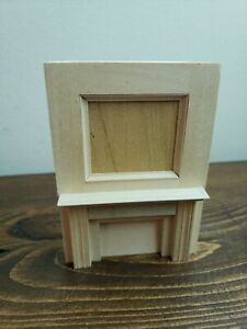 dollhouse miniatures 1:12, fireplace mantle With Mirror insert, Vintage, New