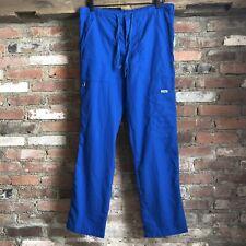 Womens Greys Anatomy Scrub Pants Size Small Blue Tie Waist