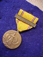 ORIGINAL WWII US AMERICAN DEFENSE MEDAL WITH SEA CLASP