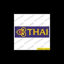 Thai Airways Logo Sticker (Size 16.5 cm x 5.3 cm)