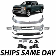 Chrome - Bumper Bracket Kit for 2011-2014 Chevy Silverado 2500HD 3500HD With Fog