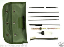 10 PC Rifle / Gun Cleaning Kit With Canvas Pouch NEW