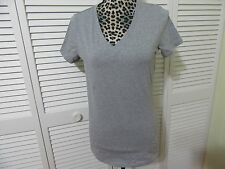 Michael Kors Top,Women, S, NWT, Grey V-neck with embellished silver logo,SS