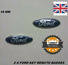 2 x 18mm Ford Focus Mondeo key badge emblem logo sticker 2 3 button fob case