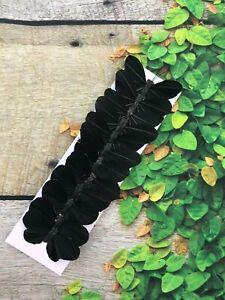 12 Black Feather Butterflies 3inch- Artificial Black Halloween butterflies