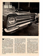 1965 PLYMOUTH SATELLITE 383/330 HP ~ ORIGINAL 4-PAGE ROAD TEST / ARTICLE / AD