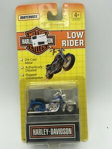 Matchbox Harley Davidson Motorcycle Low Rider Blue 1/64 Scale FREE SHIPPING