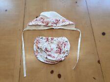Baby Girl's Floral Sombrero, pantalones conjunto de estilo español gitana tamaño 18 a 24 meses