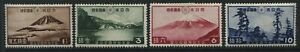 Japan 1936 National Parks set of 4 mint o.g. hinged