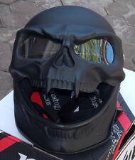 Motorcycle Helmet Skull Monster Death Black Knight Full Face Novelty 3D Visor