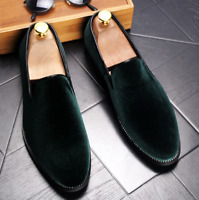 Stylish Mens Velvet Loafers Casual Slip On Party Shoes Dress Formal Business New