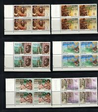 1974 PNG  - PANORAMA -Definitives Stamp issue - MUH  6 x Blocks of 4